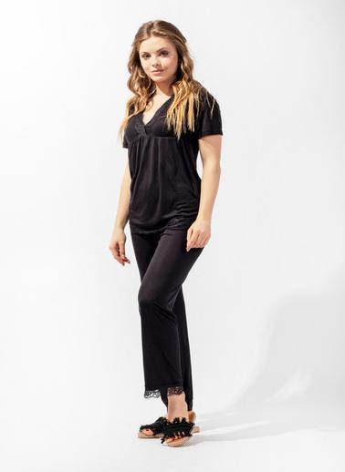 Katia & Bony Silver Line Kadın Pijama Takım Siyah